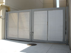 Louver Double Swing Gate